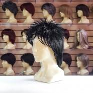 Искусственный парик чёрного цвета