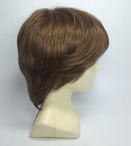 Короткий парик из натуральных волос с челкой купить на Parik-Parik.ru